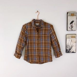 MADEWELL Broadway & Broome Plaid Flannel Button up